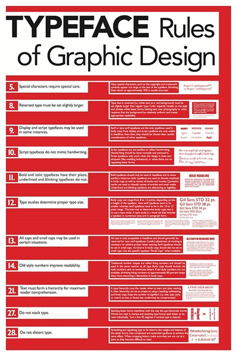 typography guidelines of graphic design poster series on behance