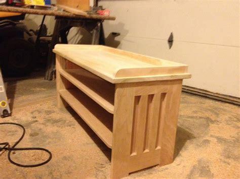 bench shoe rack  valpoww  lumberjockscom