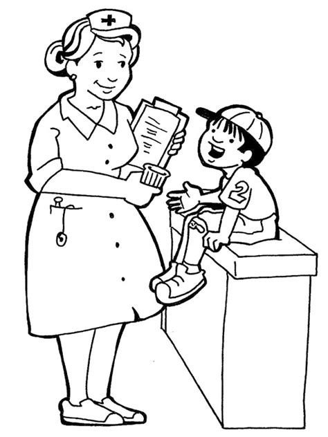 preschool doctor coloring page doctor picture for kids cliparts co