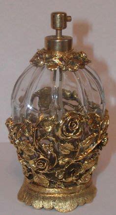 Parfum W Dressroom ornate roses by matson perfume bottle 24kt gold gilt w