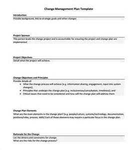 change management template sle change management plan template 9 free documents
