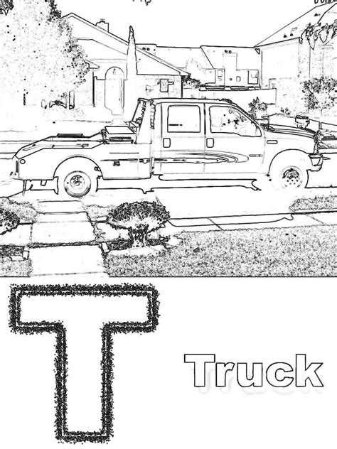 flat bed coloring page free coloring pages of flat bed tow trucks 4208