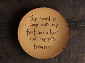 thy word is a l unto my plate the patch
