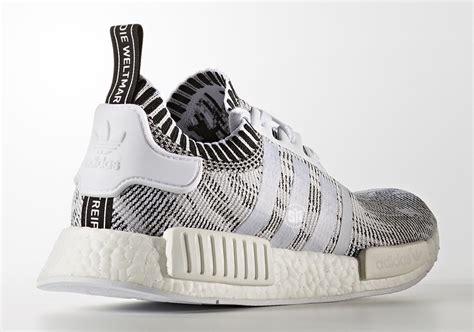 Sepatu Sneaker Adidas Nmd R1 Primeknit Oreo Premium Original adidas nmd r1 primeknit glitch camo white black sneakernews