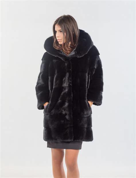 Mink Coat black mink coat with 100 real fur coats and