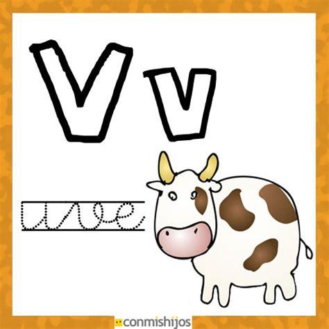 imagenes de animales por la letra v fichas para aprender las letras y colorear letra v