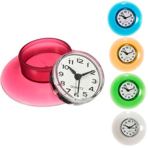 bathroom suction clock bathroom waterproof wall clock resistant timer suction cup