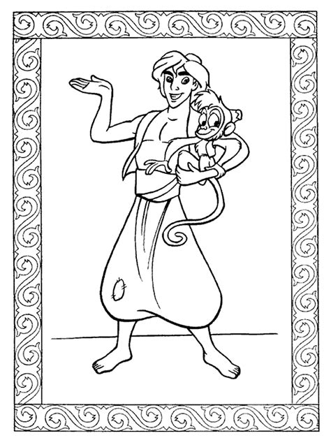 Free Printable Aladdin Coloring Pages For Kids Free Printable Colouring Pages