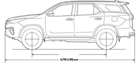 Mobil Ukuran Panjangim Mobil Brown resmi rilis ini perbedaan toyota all new fortuner vrz srz dan g toyota astra indonesia