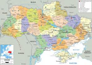 detailed political map of ukraine ezilon maps