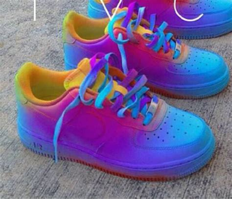 shoes tie dye nike air 1 customized colorful