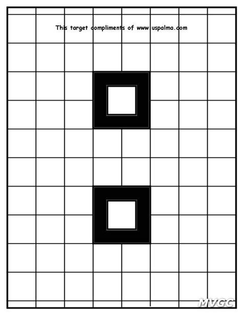 printable grid shooting targets printable targets mystic valley gun club