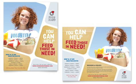 Food Bank Volunteer Poster Template Word Publisher Microsoft Poster Templates
