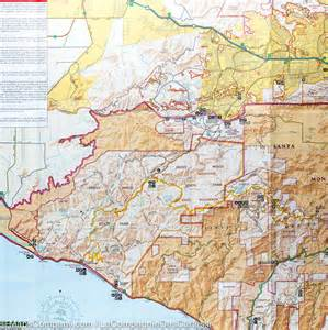 trail map of santa mountains national recreation
