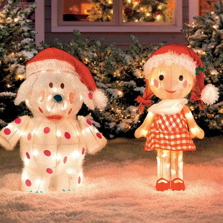 christmas decorations for the land of misfits rudolph misfit toys set of 6 outdoor tinsel sculpture yard decor ebay