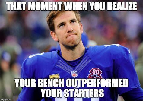 bench meme fantasy football imgflip