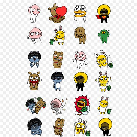 kakaotalk emoticon kakao friends sticker orangutan