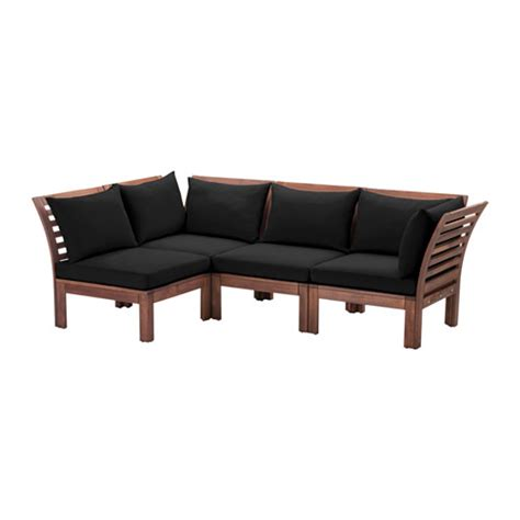 ikea applaro sectional 196 pplar 214 h 197 ll 214 4 seat sectional outdoor brown stained