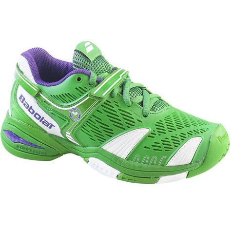 babolat propulse 4 wimbledon junior tennis shoe green