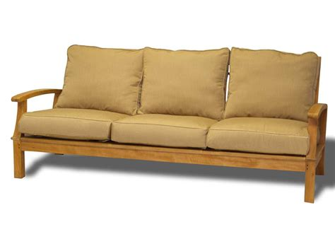 casual sofa three birds casual monterey teak cushion sofa mt65