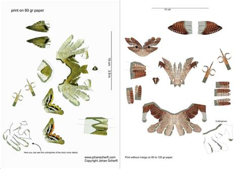 Papercraft Bird Template - johan scherft creates amazingly realistic birds from paper