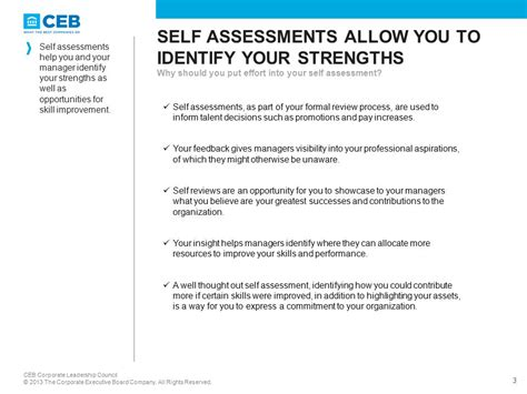 employee self assessments employee guide self assessing your performance ppt