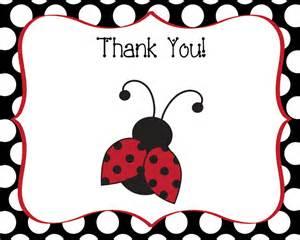 ladybug thank you note cards