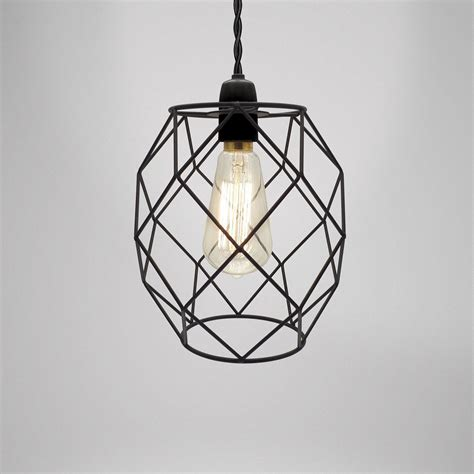 Wire Chandeliers Modern Industrial Black White Copper Metal Cage Wire Pendant Light Chandelier Ebay