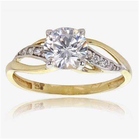 Gold And Engagement Rings by Petula 9ct Gold Diamonflash 174 Cubic Zirconia Ring