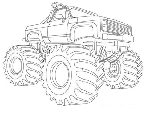 monster trucks drawings monster truck coloring book pages for when parker finally