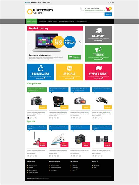 website template 45562 electronic store online custom