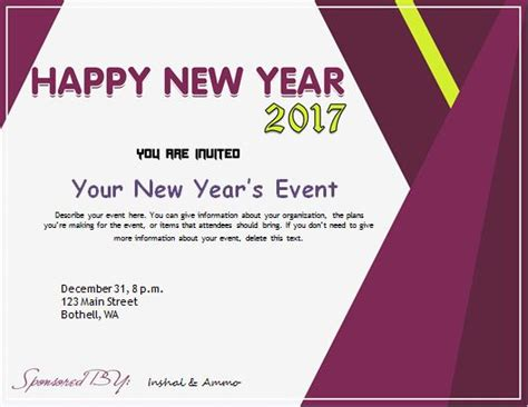 New Year Invitation Card Template Merry Christmas Happy New Year 2018 Quotes New Year Invitation Card Template