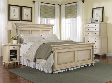 old bedroom furniture durham furniture savile row 4 piece panel bedroom set in antique cream bedroom