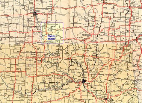 kansas road map 1932 texaco highway map of southern kansas and northern oklahoma