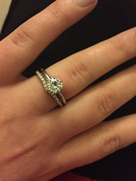 Wedding Bands With Solitaire by 15 Best Of Solitaire Rings With Wedding Band