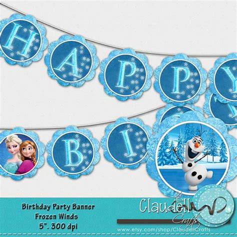 printable frozen banner 5 best images of frozen birthday banner free printable