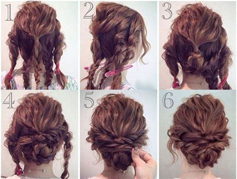 instructions on how to do a curly dressy chin lenght hairstyle 12 easy prom updo hacks tips and tricks perfect for girls