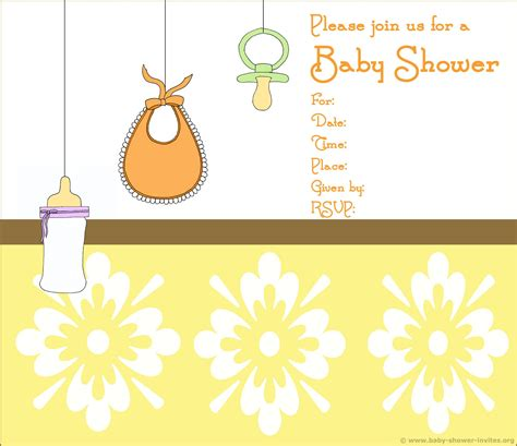printable baby shower free printable borders for baby shower invitations life