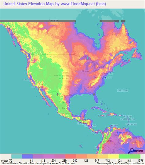 altitude maps united states us elevation and elevation maps of cities topographic map