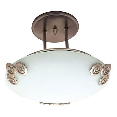 Plc Lighting 1 Light Oil Rubbed Bronze Ceiling Semi Flush Rubbed Bronze Semi Flush Ceiling Light