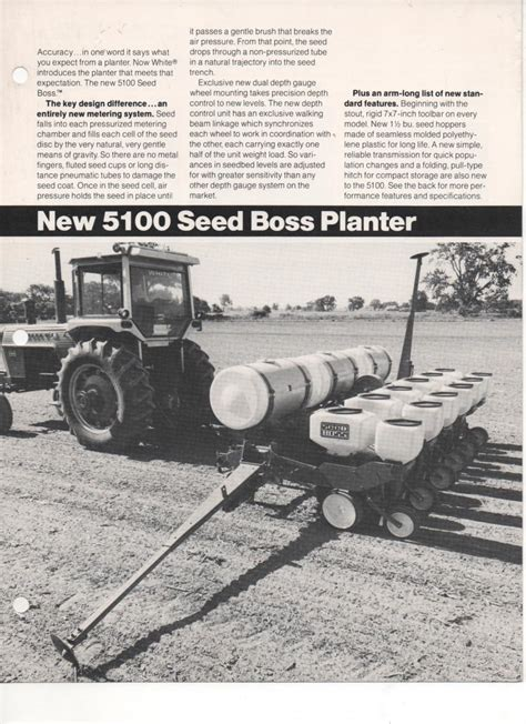 White 5100 Planter Manual by White Seed Planter 5100 Brochure
