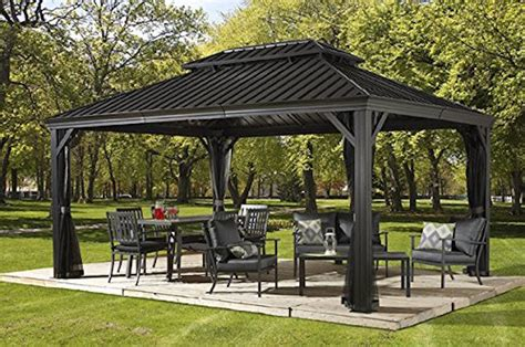 12 x 20 gazebo patio sun shelter pool furniture gazebo 12 x 16 ft hardtop