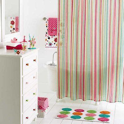 bathroom decorating ideas polka dot teen sweet girl bathroom coordinates shower curtain stripes