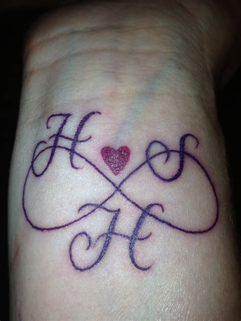 infinity tattoo designs with initials infinity with initials gallery