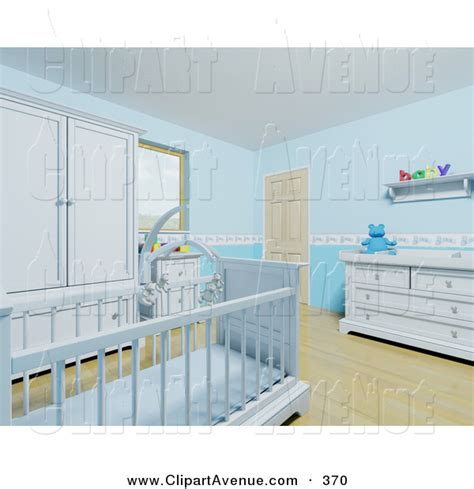 Blue Baby Furniture by Avenue Clipart Of A Blue Baby Boy S Nursery Room With A