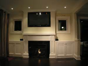 fireplace mantel with built in cabinets traditional indoor fireplaces toronto by jencia