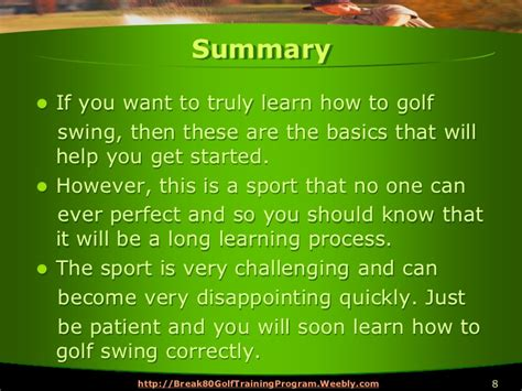 learn to swing 5 steps to learn how to golf swing