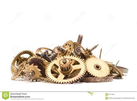 parts  broken clock stock image image