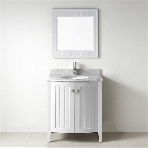 Bathe Vanities by Studio Bathe Bridgeport 30 Inch White Bathroom Vanity