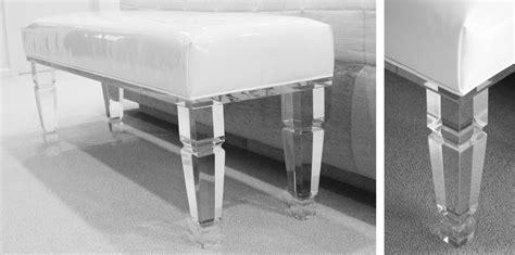 lucite bench lucite bench bespoke furniture deborah martin designs manhattan long island based